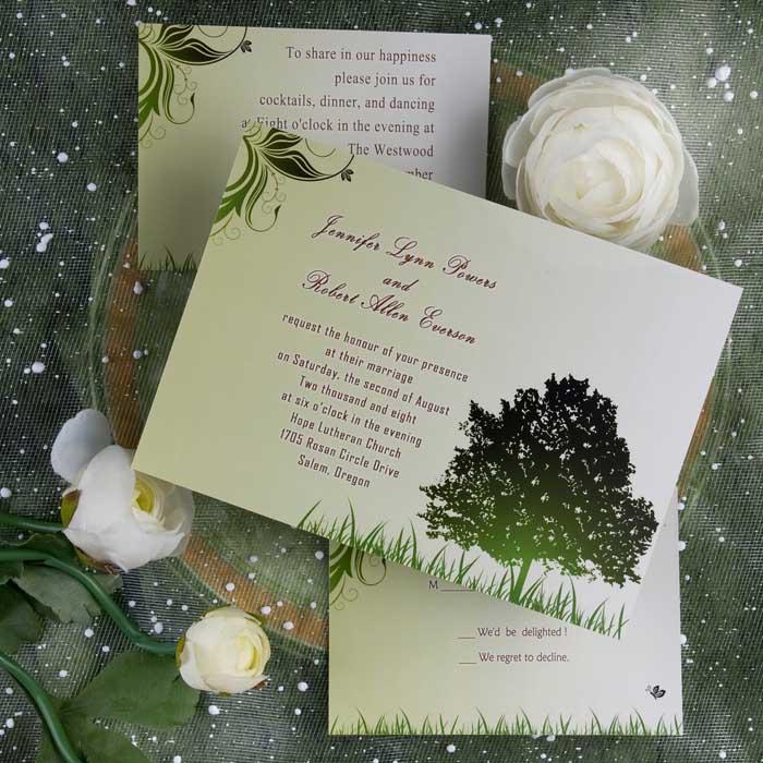 Eleganta bröllop inbjudninjar